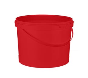 10 Litre Double Lock Bucket with Plastic Handle Red