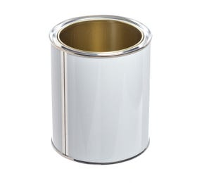 750 ML White Lever Lid Tin Lacquered Interior