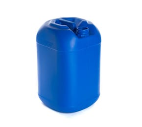 25 Litre Plastic Blue UN Approved Square Round Jerry Can with 61mm Neck 1.2kg