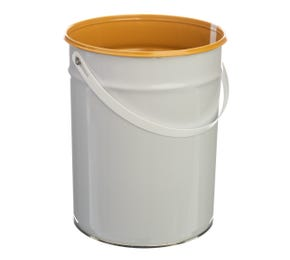 5 Litre Tinplate White Pail Lacquered Interior UN Approved
