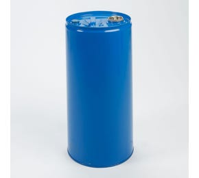 30 Litre Steel Blue UN Approved Tighthead Drum Lacquered Interior with Bung Closure
