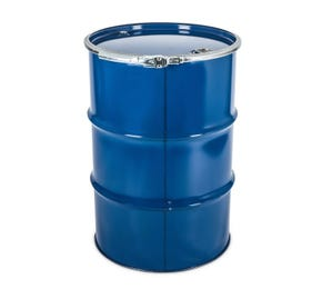 210 Litre Steel Blue UN Approved Open Top Drum Lacquered Interior With Bung Closure