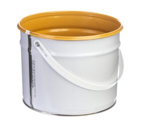 3 Litre Tinplate White Pail Lacquered Interior UN Approved