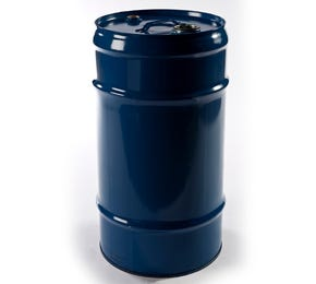 57 Litre Steel Blue UN Approved Tighthead Drum Lacquered Interior with Bung Closure
