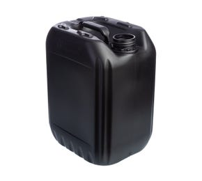 10 Litre Plastic Black UN Approved Stackable Jerry Can 51mm Neck 400g